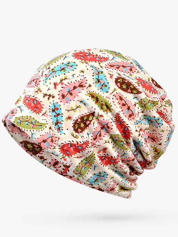 New Lightweight Cashew Floral Open Top Beanie