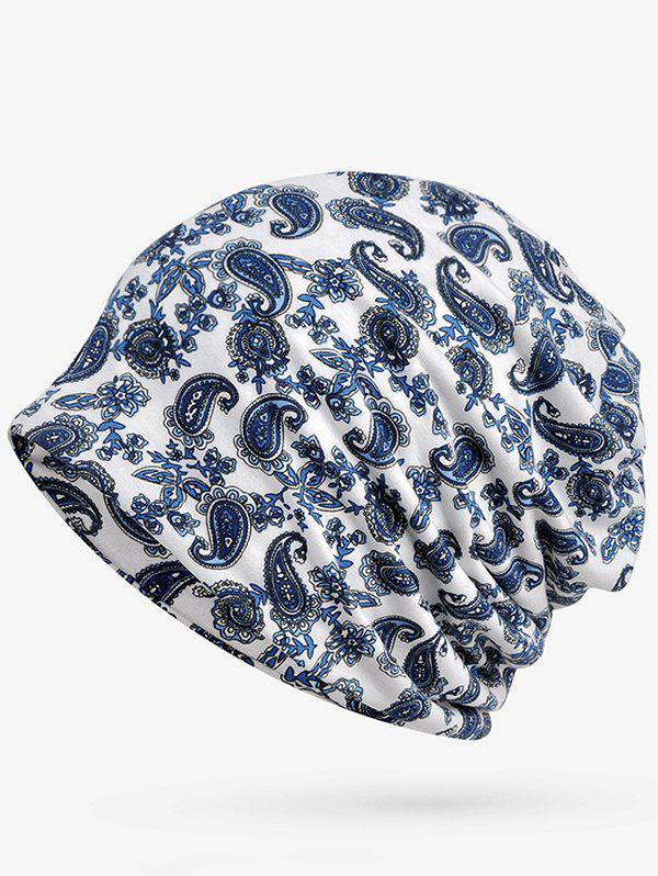 Sale Lightweight Cashew Floral Open Top Beanie