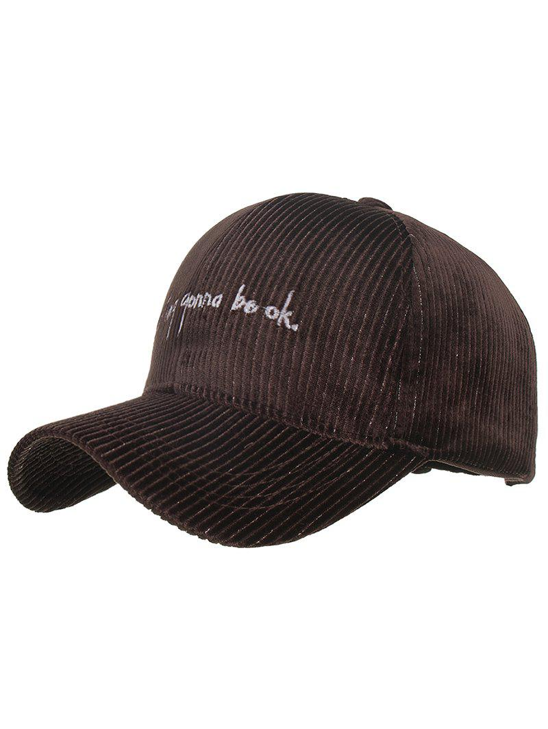 Shop Letter Embroidery Corduroy Snapback Hat