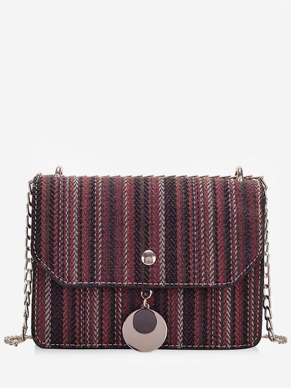 Outfit Chic Striped Chain Crossbody Bag