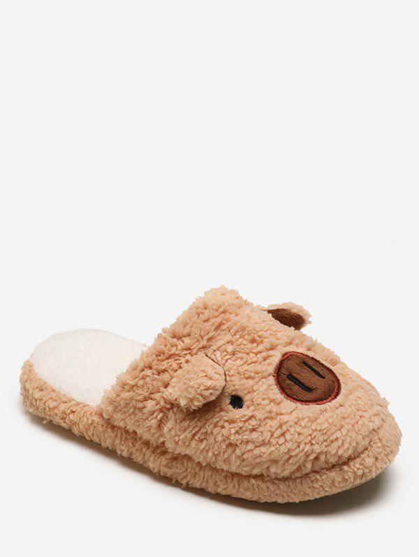 Sale Lovely Piggy Fuzzy Slippers