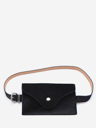 Discount Solid Color Faux Suede Waist Bag