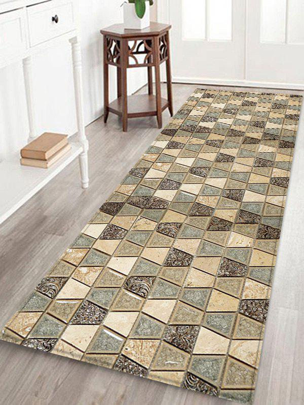 Best Vintage Geometric Printed Decorative Flannel Bath Mat