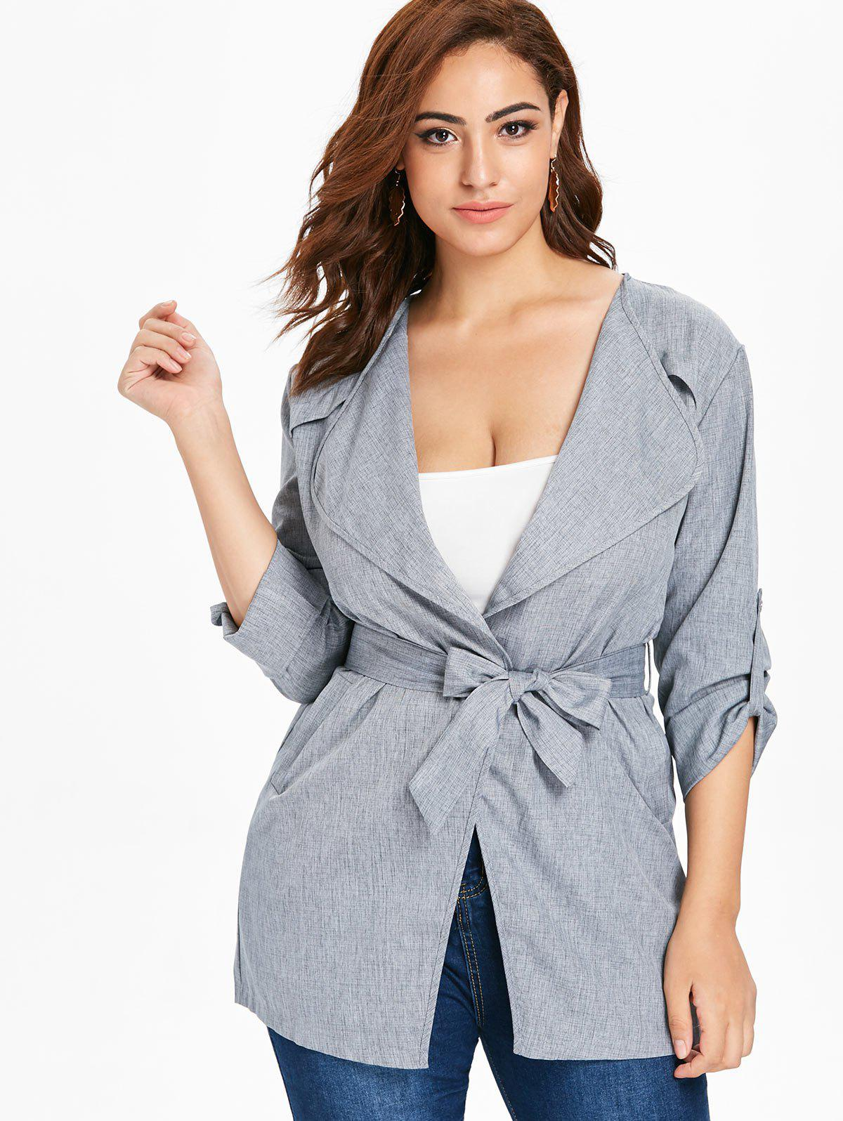 Buy Plus Size Longline Coat