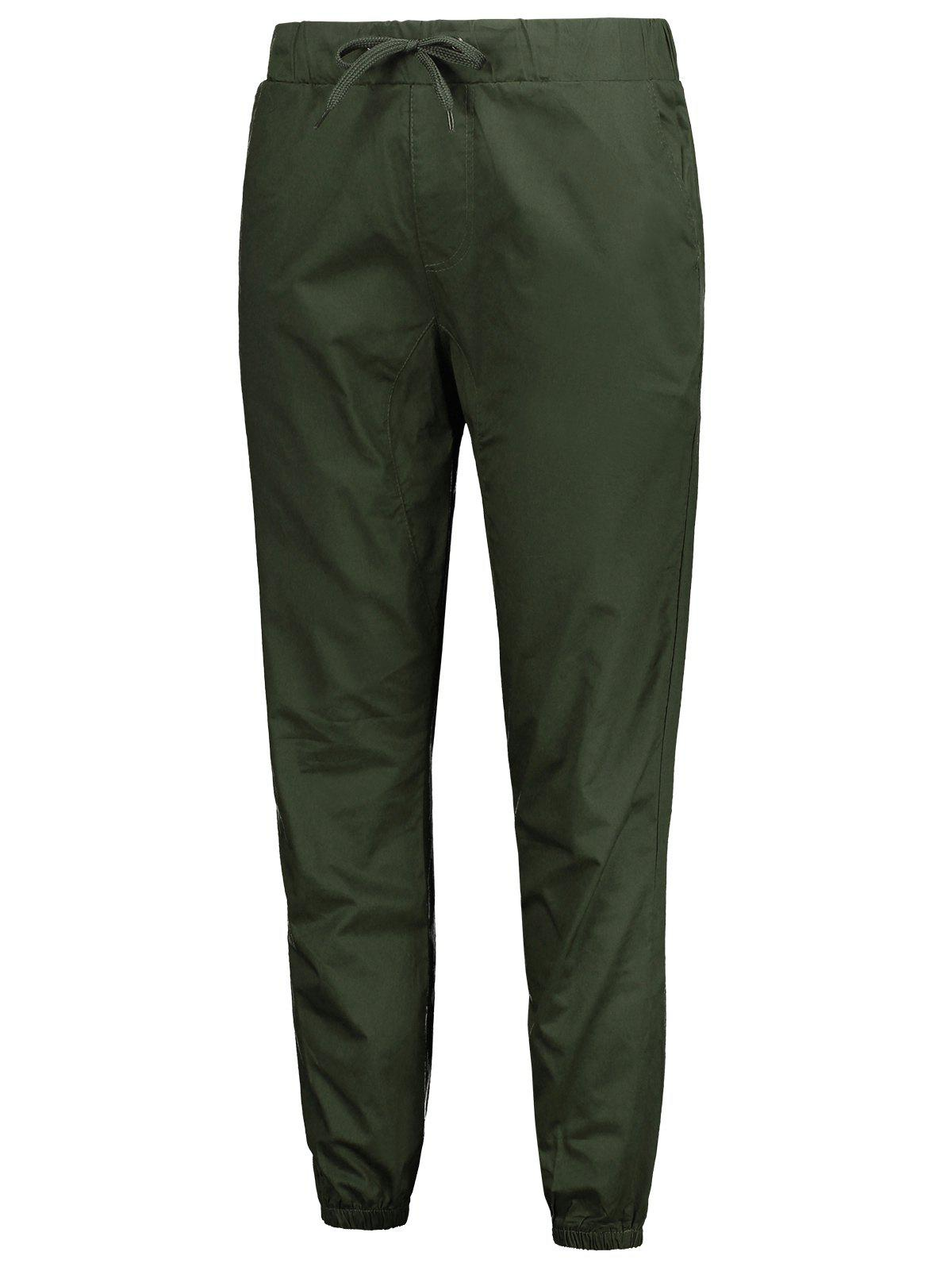 Latest Solid Color Elastic Waist Jogger Pants