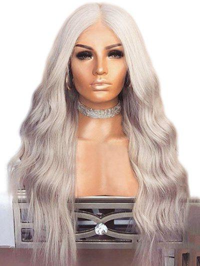 New Long Center Parting Natural Wavy Synthetic Wig