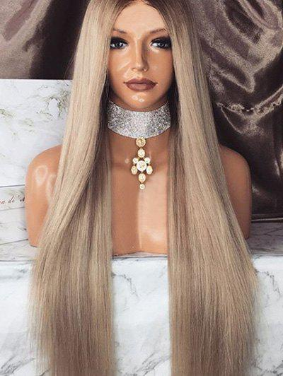 Outfits Long Middle Part Colormix Straight Synthetic Wig
