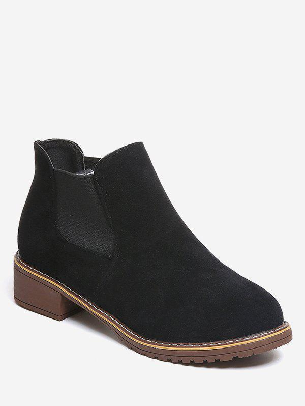 Outfits Low Heel Suede Chelsea Boots