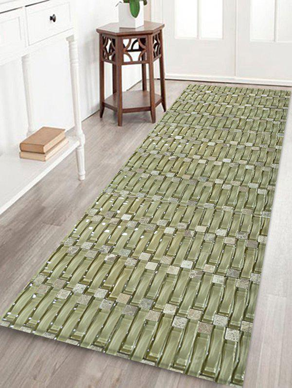 Woven Patterned Carpet: [30% OFF] Woven Bamboo Pattern Non-slip Decorative Flannel