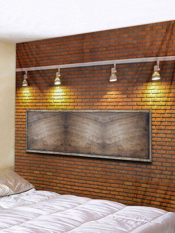 Hot Brick Wall Lamp Printed Tapestry Art Decor