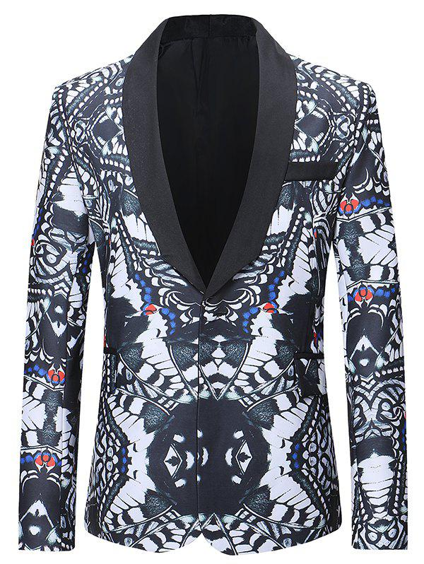 Affordable One Button Abstract Printing Pattern Blazer