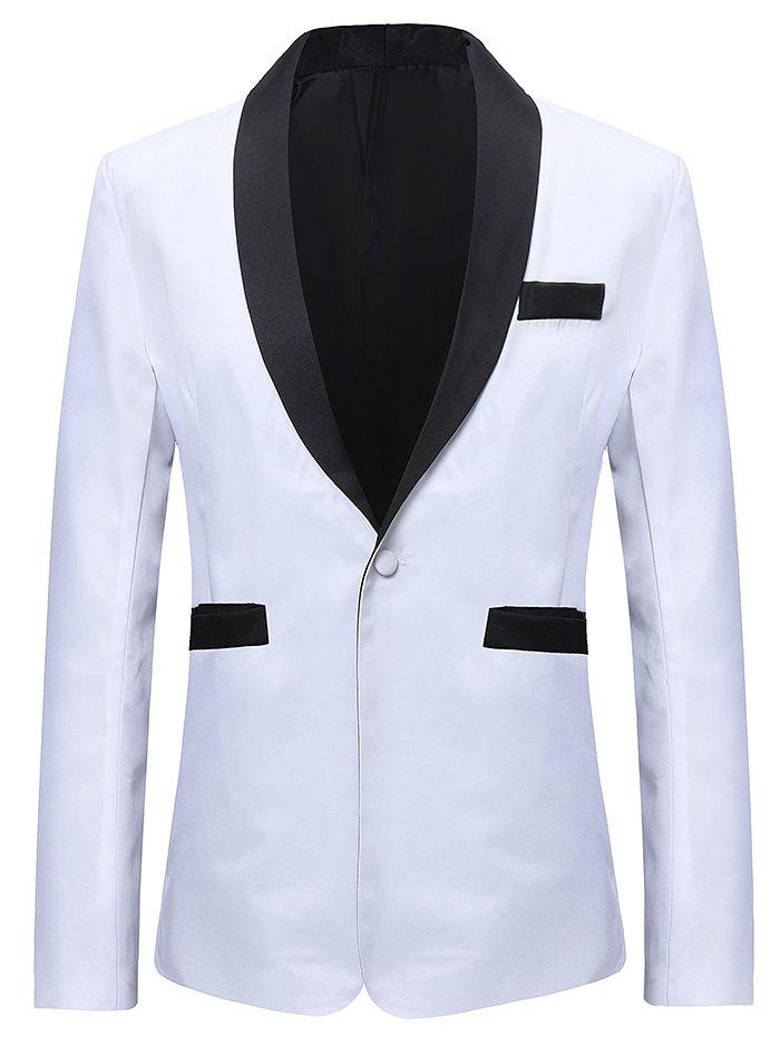 Online Contract Color One Button Classic Blazer