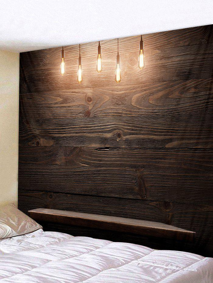Wooden Wall Lamp Print Wall Tapestry Art Decoration