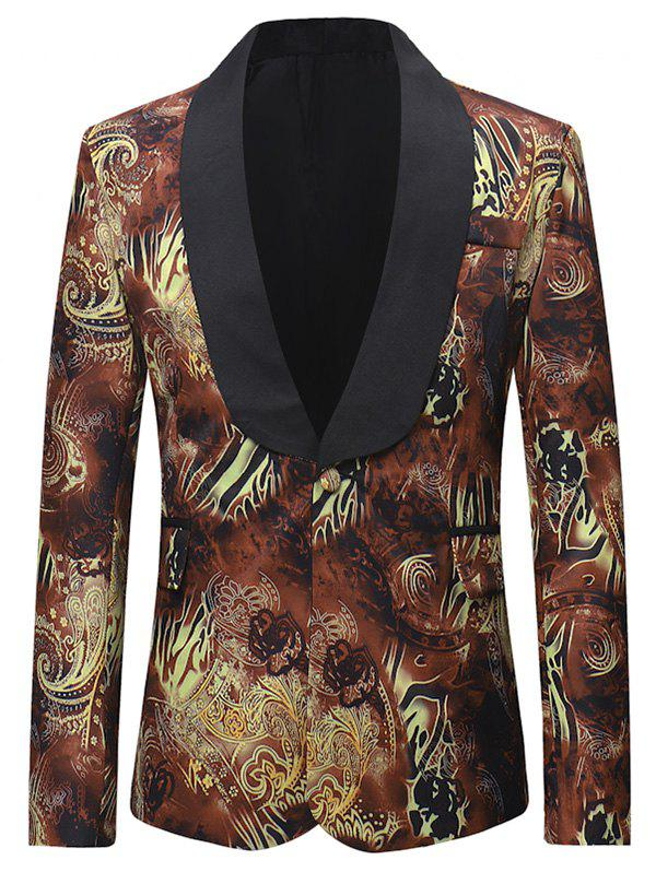 Fancy Flap Pocket Design One Button Blazer