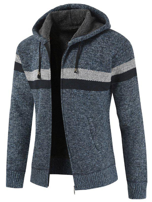 Latest Striped Casual Zipper Placket Sweater