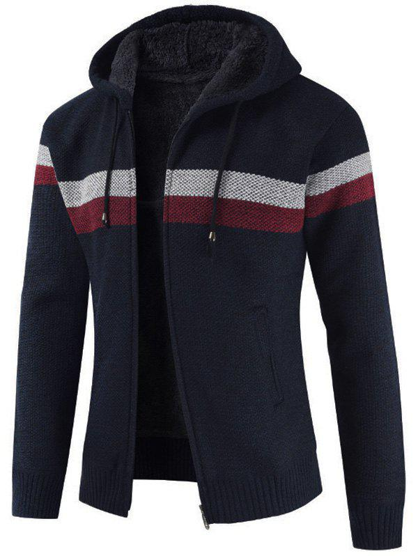 Buy Striped Casual Zipper Placket Sweater