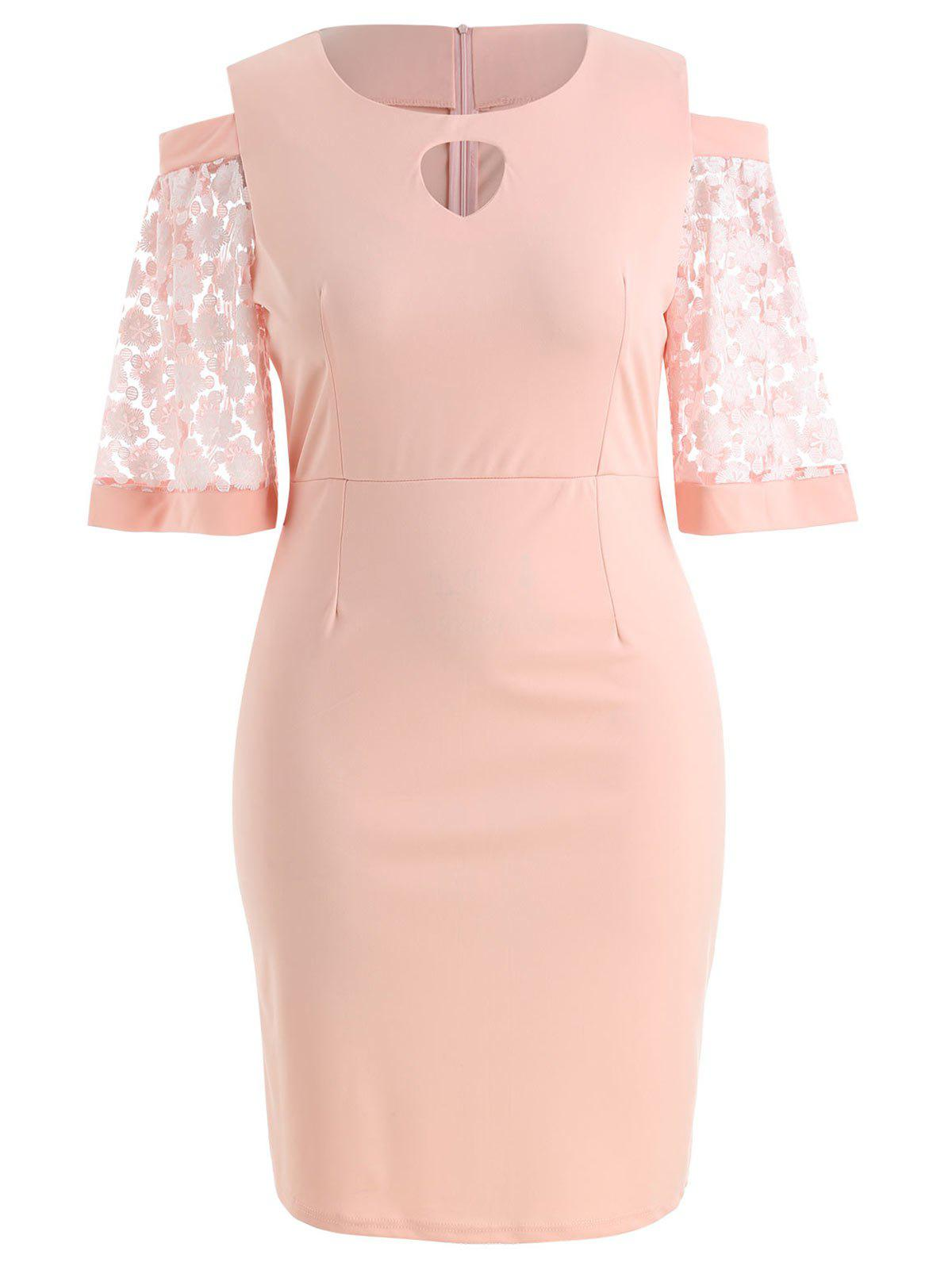 New Plus Size Cut Out Bodycon Dress