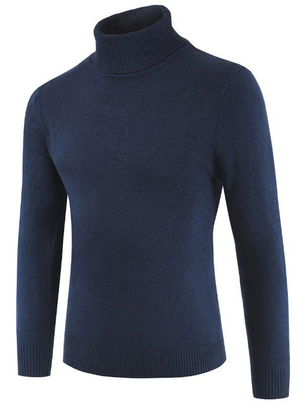 Buy Turtle Neck Whole Color Sweater