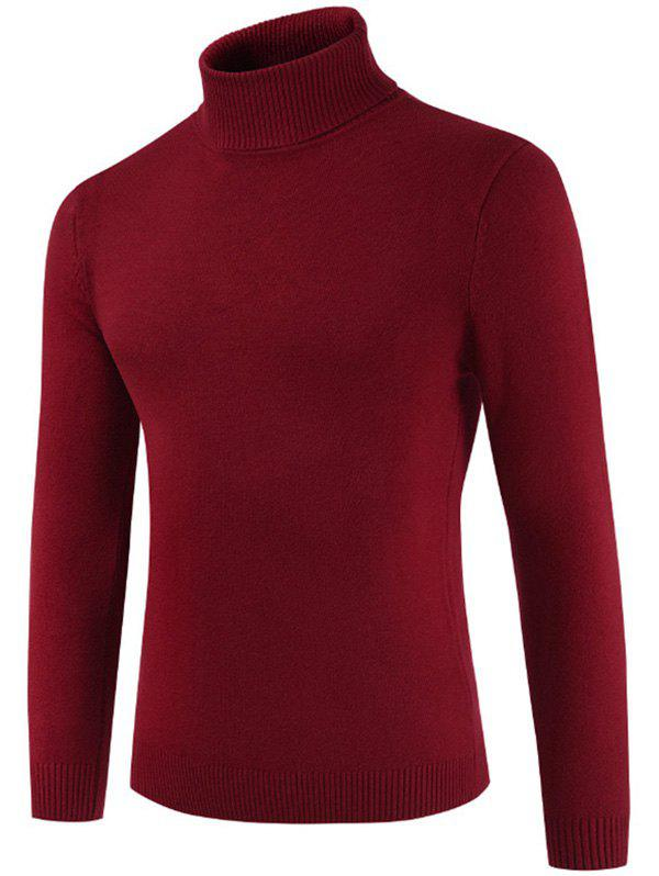 Online Turtle Neck Whole Color Sweater