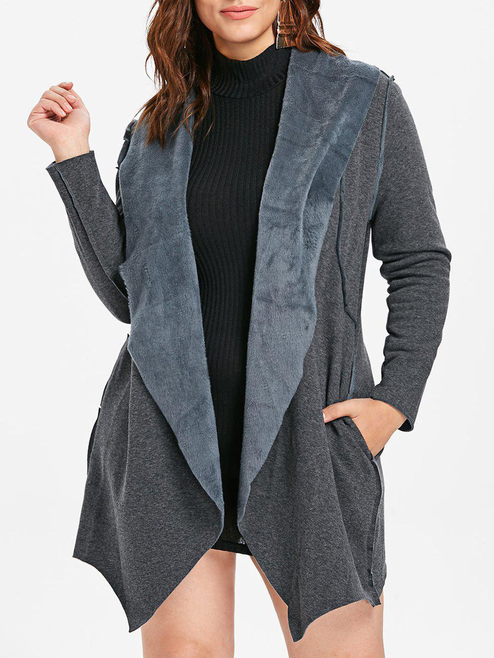New Asymmetrical Plus Size Coat