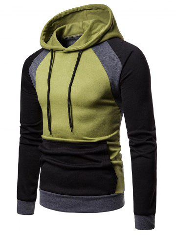 Color Blocking Casual Pullover Hoodie