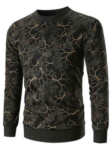 Tree Print Long Sleeve Sweatshirt