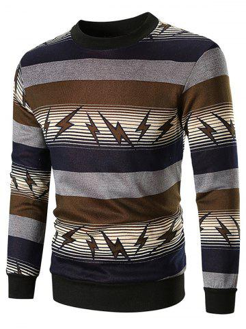 Striped and Lightning Print Sweatshirt
