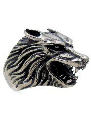 Stylish Carving Wolf Biker Ring -