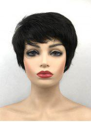 Short Side Bang Capless Synthetic Straight Wig -