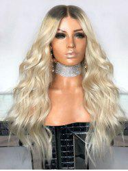 Center Parting Long Wavy Synthetic Wig -