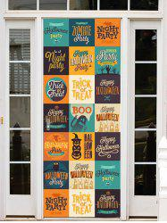 Halloween Letters Pattern Door Cover Stickers -