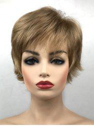 Synthetic Side Bang Short Straight Wig -