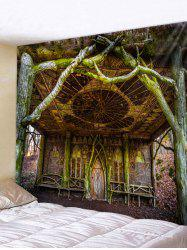 Wall Hanging Art Vintage Tree House Print Tapestry -