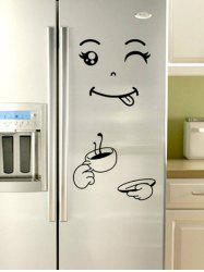 Funny Printed Removable Refrigerator Wall Sticker -