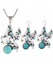 Bohemian Butterfly Faux Turquoise Jewelry Set -