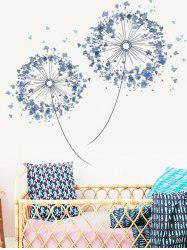 Double Dandelion Print Removable Wall Art Stickers -