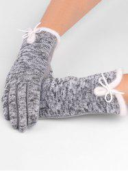 Winter Bowknot Thicken Gloves -