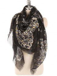 Lightweight Floral Fringed Winter Long Scarf -