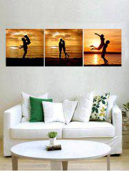Sunset Lover Print Unframed Split Canvas Paintings -