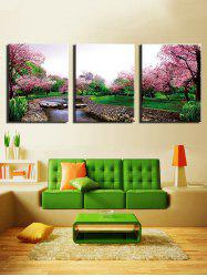 Flower Tree Forest Print Unframed Split Canvas Paintings -