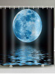 Moon Lake Pattern Waterproof Shower Curtain -