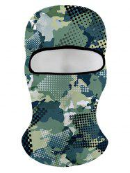 Winter 3D Green Camo Printed Ski Cap -