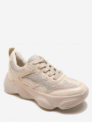 Lace Up Chunky Athletic Sneakers -