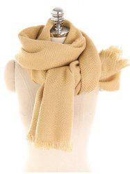 Vintage Solid Color Thicken Warm Scarf -