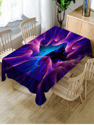 Abstract Galaxy Print Fabric Waterproof Tablecloth -