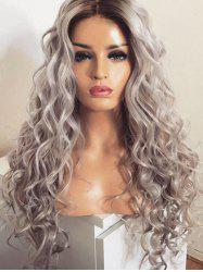 Long Middle Part Colormix Loose Wave Synthetic Wig -