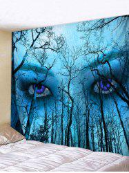 Forest Eyes Print Wall Tapestry Art Decoration -