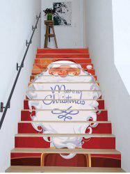 Merry Christmas Santa Claus Removable Stair Stickers -