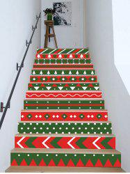 Christmas Color Block Removable Stair Stickers -