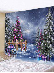 Christmas Tree Print Wall Tapestry Art Decoration -